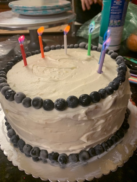 Terrific Lemon Blueberry Cake For A Summer Birthday Celebration Catie Cooks Funny Birthday Cards Online Elaedamsfinfo